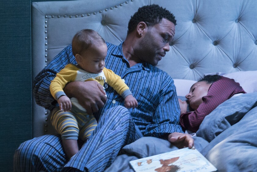 """Anthony Anderson and Tracee Ellis Ross in the shelved 2017 """"black-ish"""" episode """"Please, Baby, Please."""""""