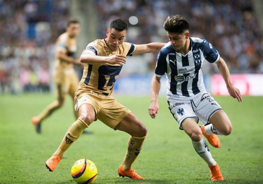 Los Pumas de la UNAM recibirán mañana al eliminado Gallos del Querétaro confiados en ganar y entrar de la mejor manera a la liguilla del torneo Clausura 2018 del fútbol mexicano que se jugará a partir de la próxima semana. EFE/Archivo