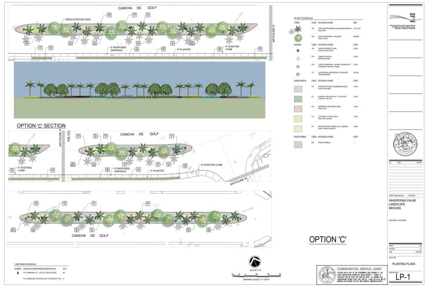 This option for median landscaping was the preferred plan at a March board meeting of the Whispering Palms Community Services District.