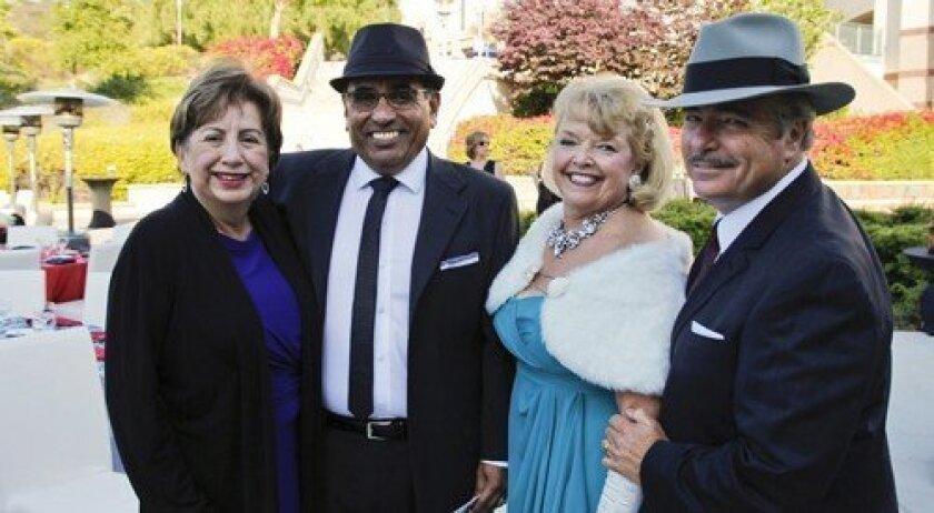 Gloria and Xavier Martinez, CSUSM University Advisory Council member; President Karen Haynes and First Gentleman Jim Mickelson