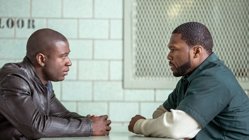 Shawn (Sinqua Walls) and Kanan (Curtis '50 Cent' Jackson) in the STARZ drama POWER about a drug deal