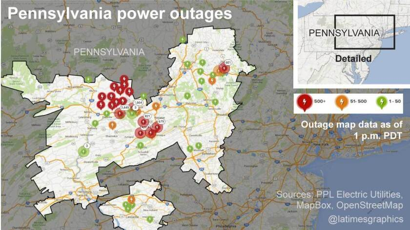 Pennsylvania outages