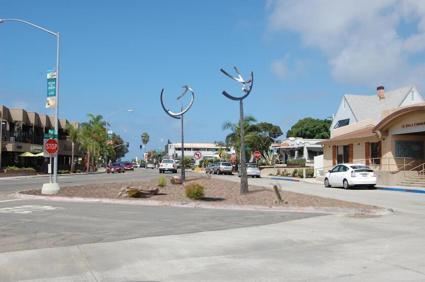 La Jolla Community Center hopes to have Jeffrey Laudenslager's 'Medusa' and 'Orpheus' sculptures christen a new parklette on La Jolla Boulevard.