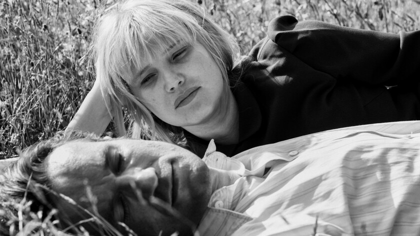 "(L-R) - Tomasz Kot and Joanna Kulig in a scene from ""Cold War."" Credit: Amazon Studios"