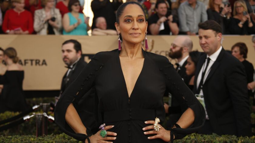 Tracee Ellis Ross on the red carpet at the Screen Actors Guild Awards on Jan. 29.