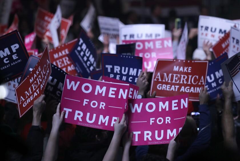 A Trump campaign rally in New Hampshire on Nov. 7, 2016
