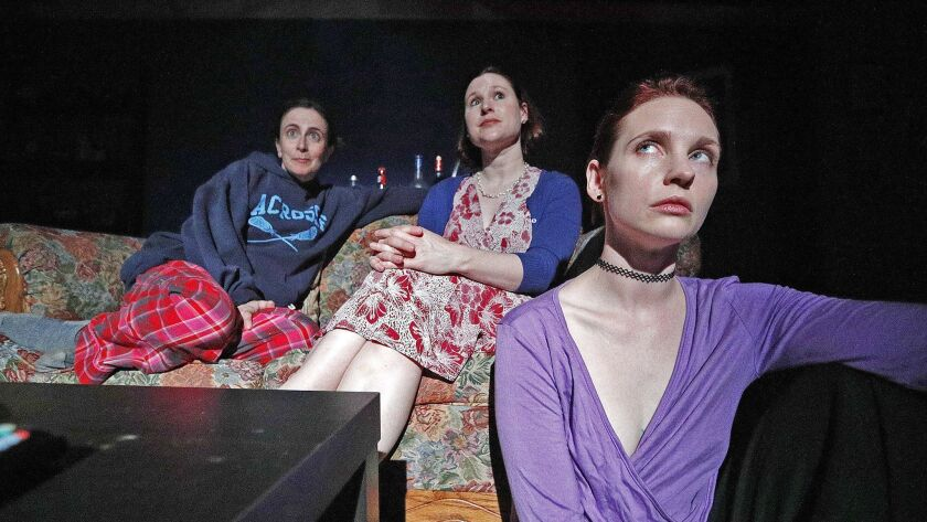 Sisters Austin, Dallas, and Baltimore, played by Jessica Blair, Leslie Connelly, and Sheena Leigh, w