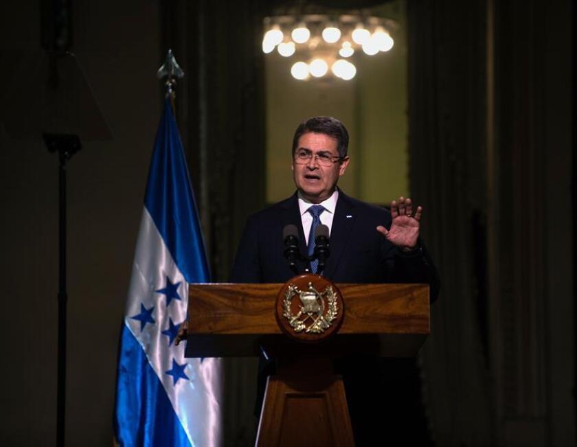 El presidente de Honduras, Juan Orlando Hernández. EFE/Archivo
