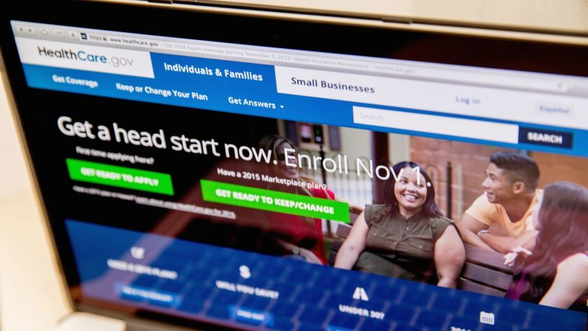 More than 100,000 people signed up for health coverage on HealthCare.gov the day after Donald Trump was elected president.
