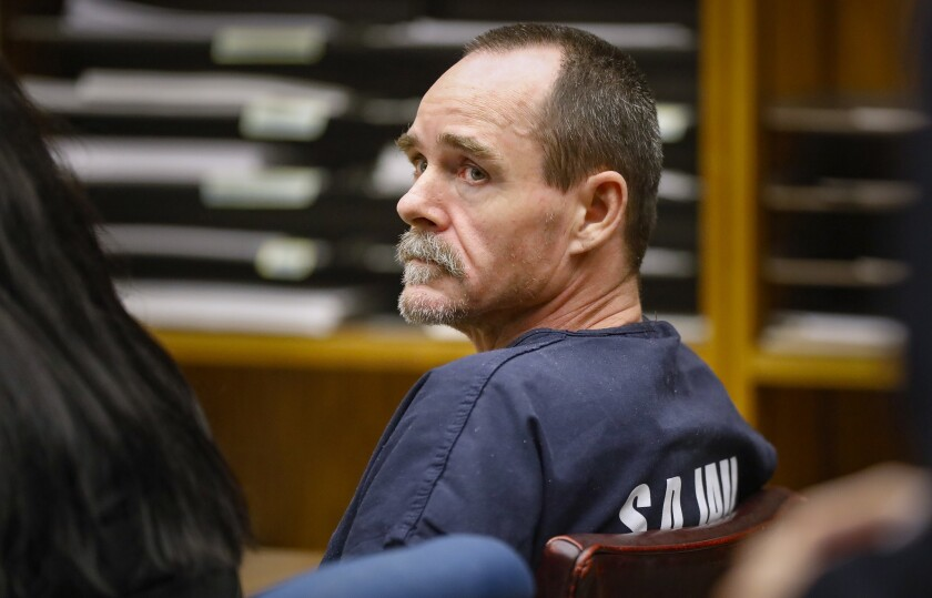 Winnie Whitby, accused in the murder of his wife, Melissa Whitby, in El Cajon Superior Court in January.