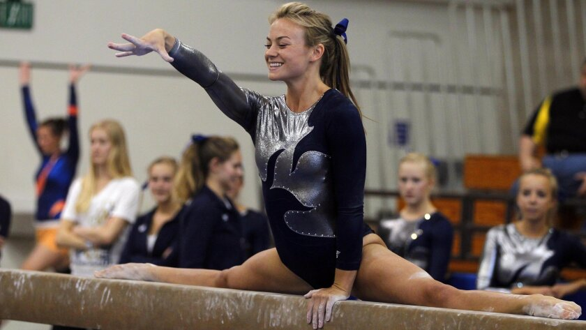 La Costa Canyon senior Maddy Goss, who finished fifth in the optional all-around, helped the Mavericks win their first team title.