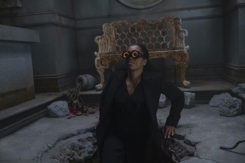 "Regina King plays Angela Abar, a.k.a. Sister Night, in ""Watchmen."""