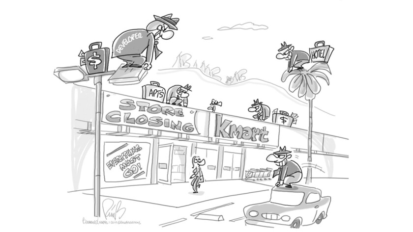 """Final cartoon"""" Scavengers"""" to be published in BLR on 1-26-19. (Bert Ring)"""