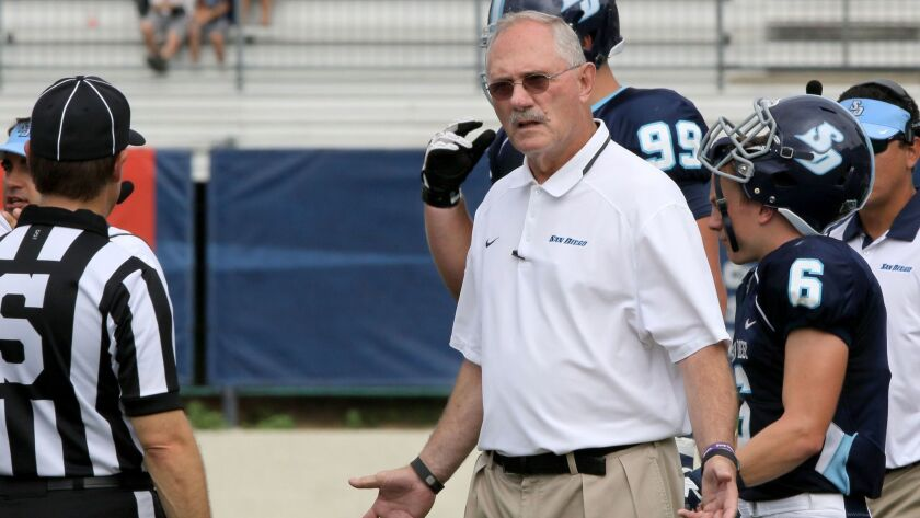 USD head football coach Dale Lindsey.