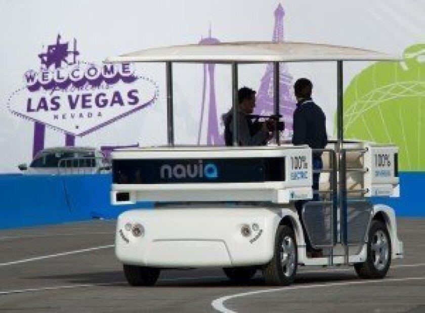 Navia shuttle in Las Vegas