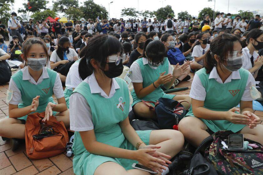 School boycott in Hong Kong