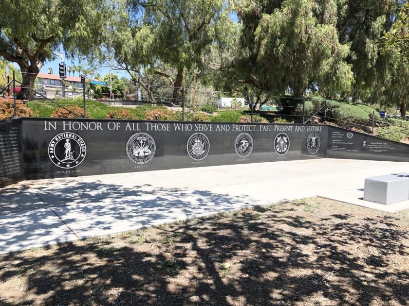 Vista's Military Memorial Wall