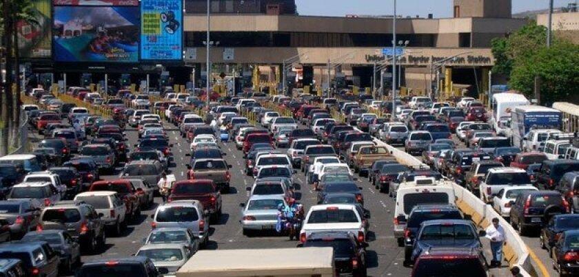 The border crossing at San Ysidro.