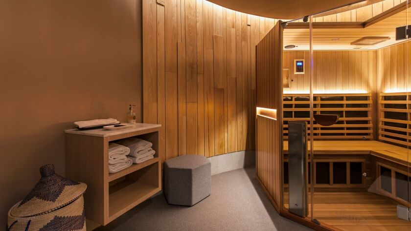 The infrared sauna chamber at Pause in Culver City.
