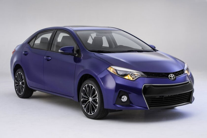 Shown is a 2014 Toyota Corolla. Toyota is recalling vehicles whose airbags may not inflate in a crash. The recalls include certain 2011-2019 Corollas.