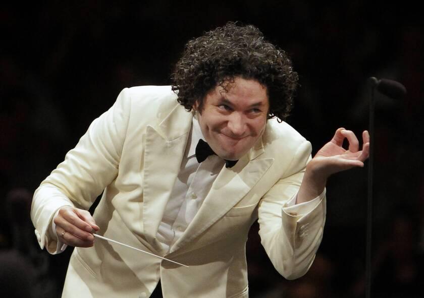 Los Angeles Philharmonic conductor Gustavo Dudamel