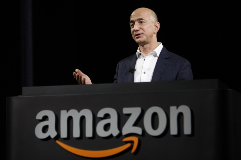 Amazon chief executive Jeff Bezos. The e-tailer could soon sell fine art on its site.
