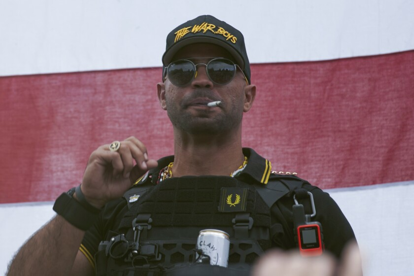 "Proud Boys leader Henry ""Enrique"" Tarrio"