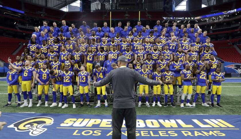 APphoto_Patriots Rams Super Bowl Football