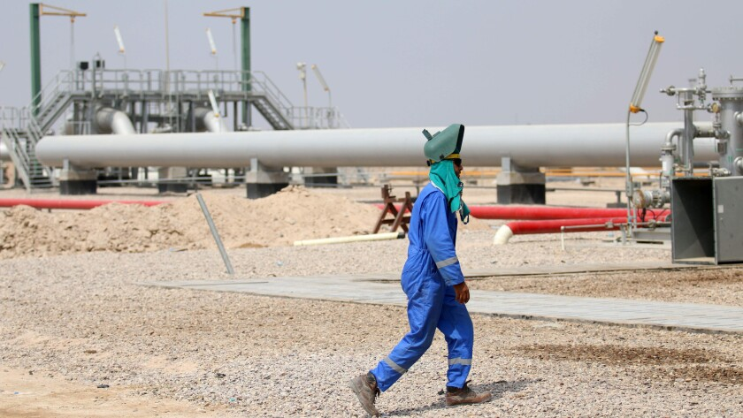 The Zubair oil field, about 20 miles southwest of Basra in southern Iraq.