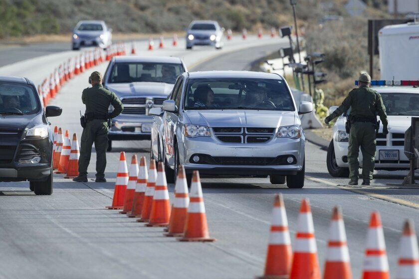 Border Patrol checkpoint on Interstate 8 near Pine Valley