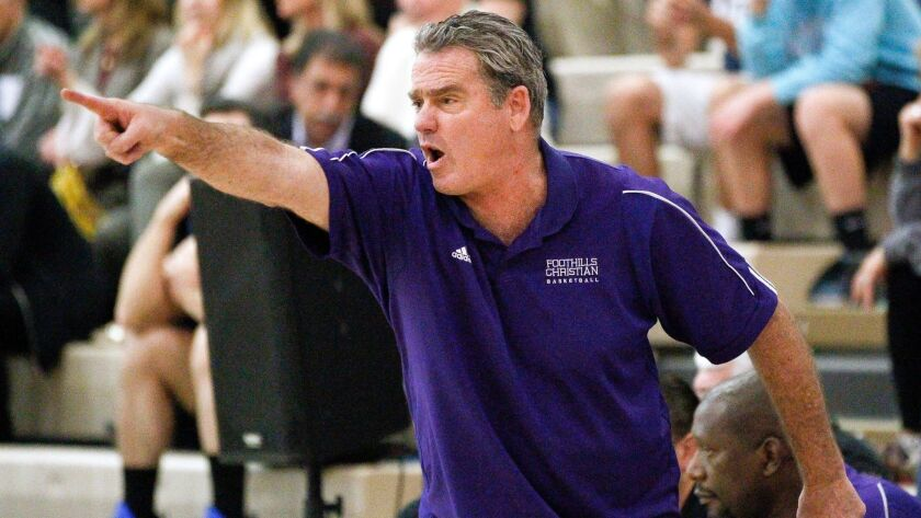 Coach Brad Leaf guided Foothills Christian to the San Diego Section Open Division title last season.
