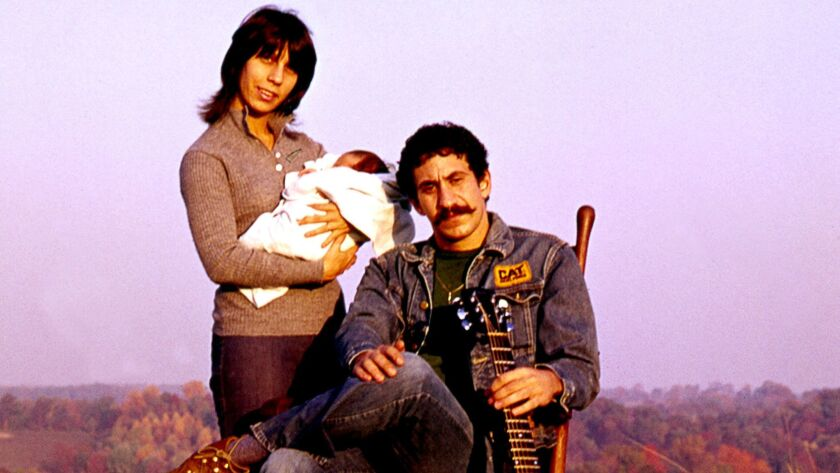 Jim and Ingrid Croce and their newborn son, Adrian James (A.J.), pose for a portrait 40 years ago. P