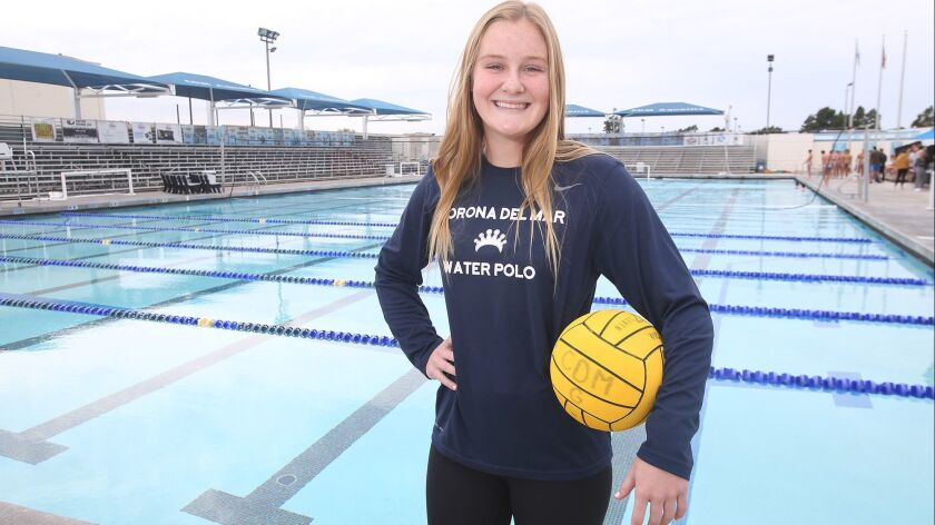 Sophie Wallace of the CdM girls' water polo team is the Female Athlete of the Week. Wallace scored t