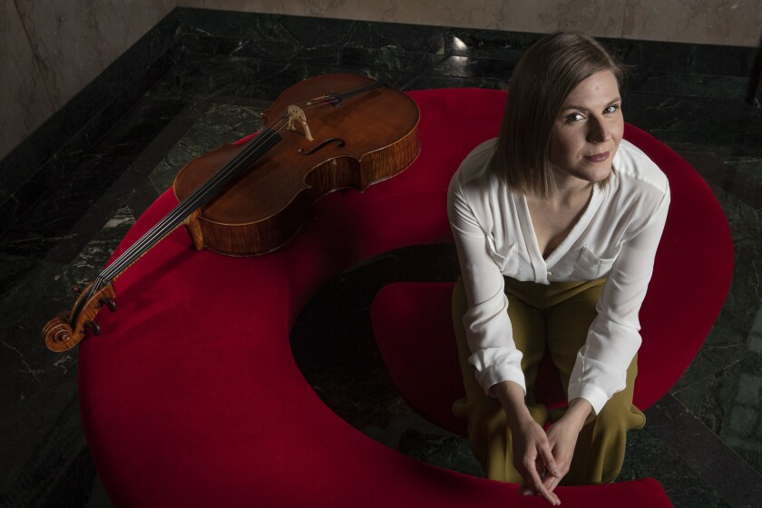 Cellist Amanda Gookin, creator of Forward Music Project, will perform at the Wallis in Beverly Hills.