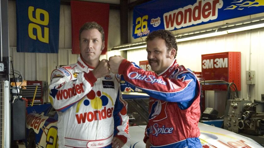 """Will Ferrell, left, and John C. Reilly star in Columbia Pictures' comedy """"Talladega Nights: The Ball"""