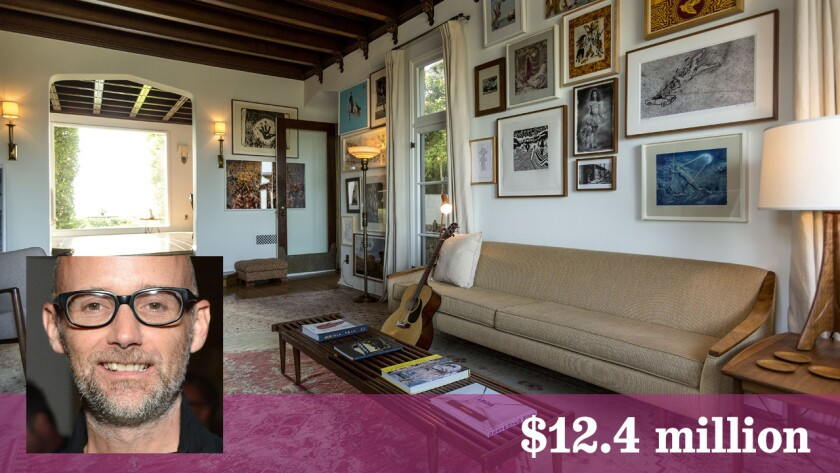 Moby has sold his Wolf's Lair compound in Hollywood Hills for $12.4 million.