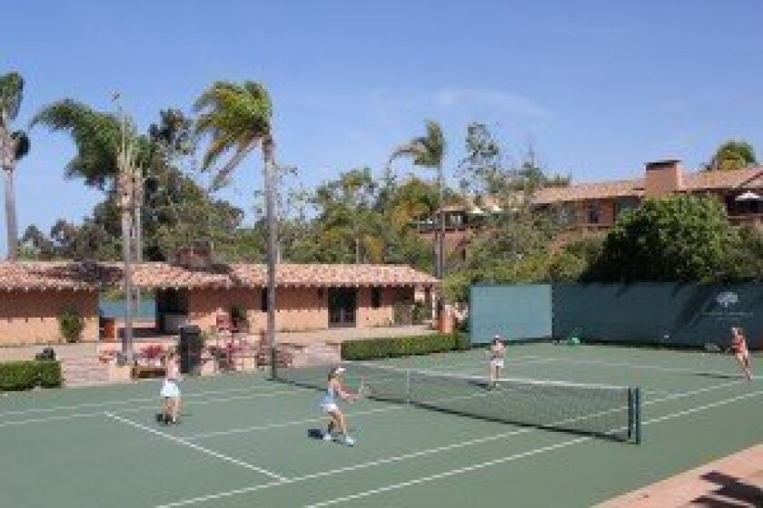 The Rancho Valencia Resort's new tennis facility is the final touch to be completed on its $30 million renovation. Photo/Karen Billing