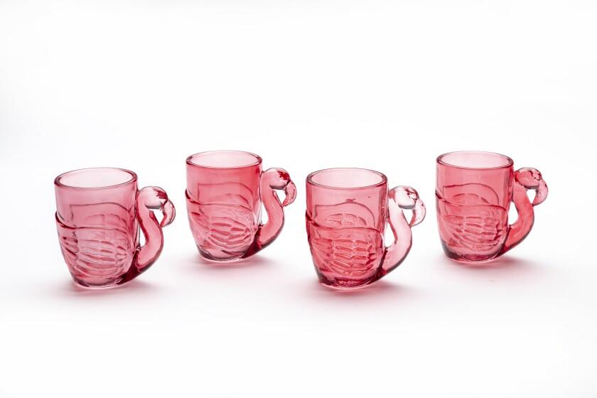Flamingo shot glasses