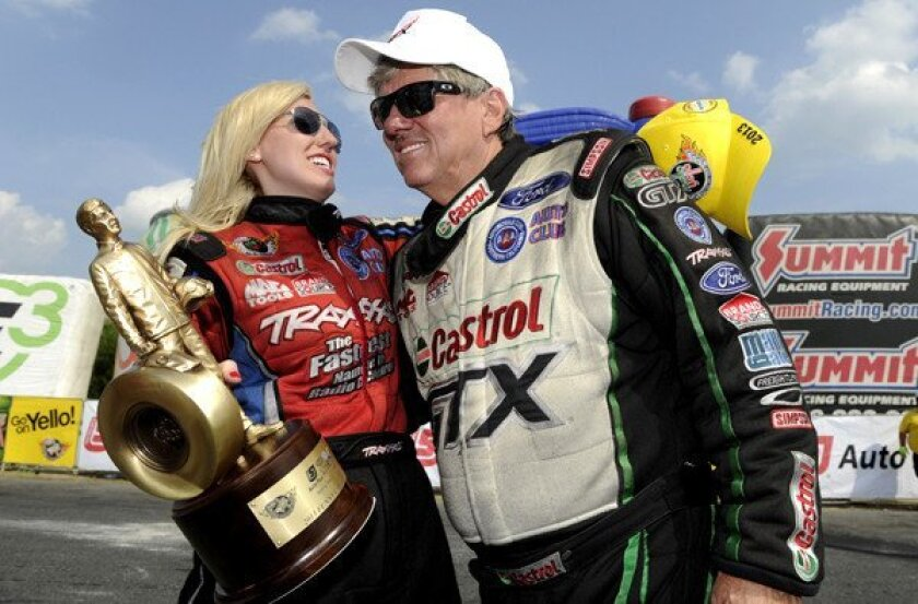 Courtney Force with father John Force