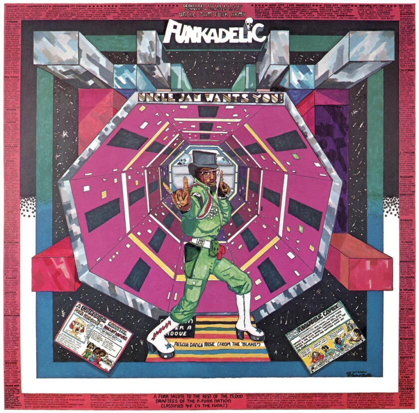 Detail of Pedro Bell's art for Funkadelic.