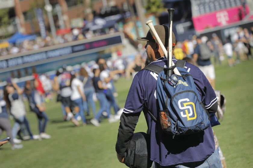 Fans were able to walk on the field during the 2018 Padres FanFest at Petco Park.