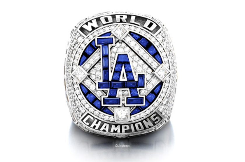 Replica Dodgers championship ring by Jostens.