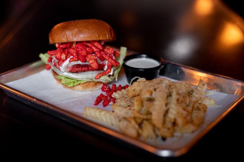 A burger and fries at Metl Bar & Restaurant