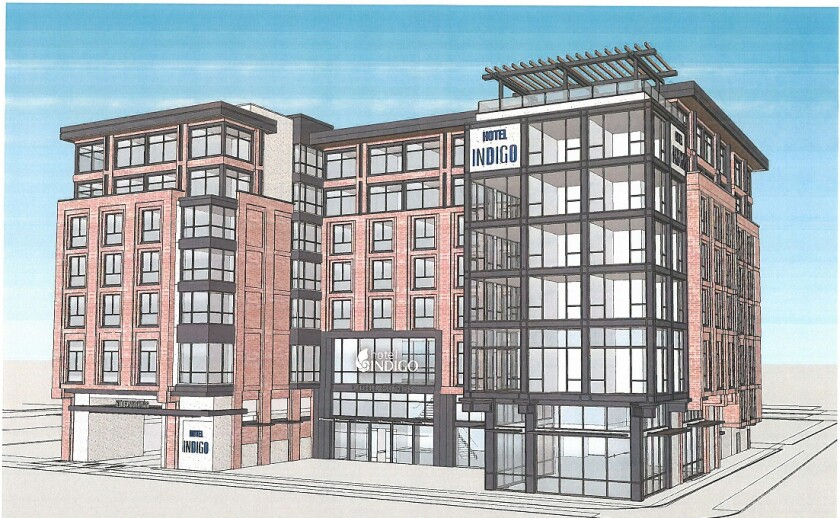 A reader laments the number of businesses that will be closed to achieve the construction of the Hotel Indigo and thinks the city could do without so many such projects.