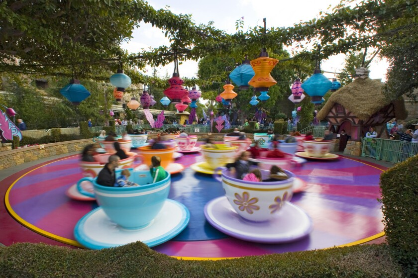 The Mad Tea Party ride in Disneyland's Fantasyland.