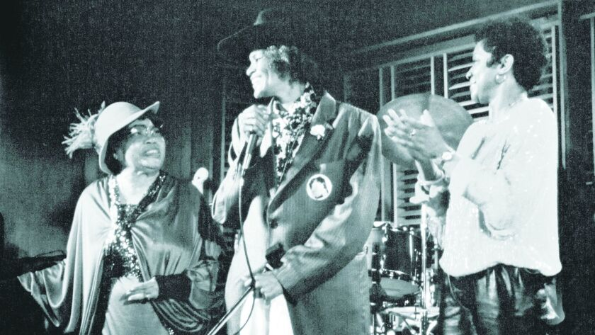 Blues vocal greats Sippie Wallace (left), Big Mama Thornton and San Diego's Jeannie Cheatham are sho