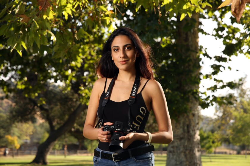 Tracey Aivaz is a writer, director and Academy Gold alum. She poses at Bette Davis Picnic Area in Glendale on July 21