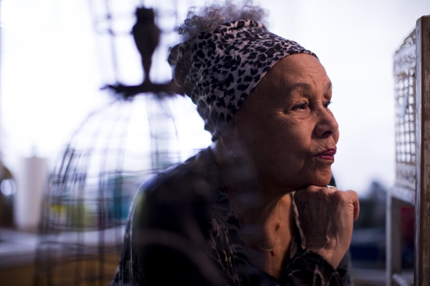 Betye Saar in her Laurel Canyon studio in 2016.