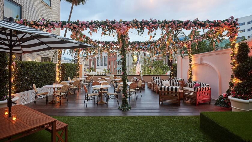 The Secret Rosé Garden coming to the Beverly Wilshire-Four Seasons hotel in June.