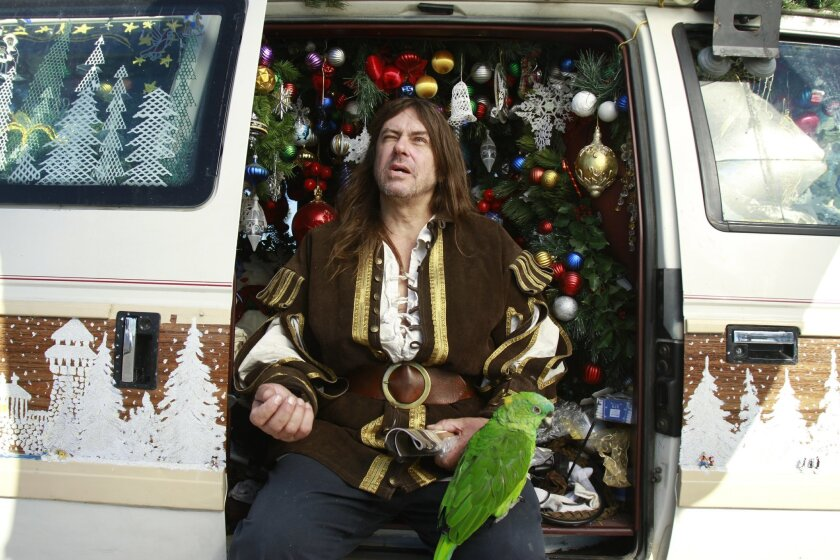 The van has winter-themed trim and more ornaments inside than your average Christmas tree.